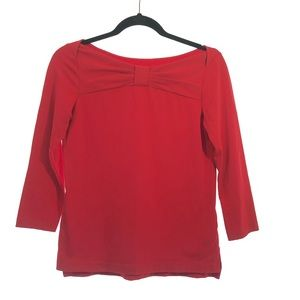 Kate Spade Top Small Wheaton Red Bow Boat Neck